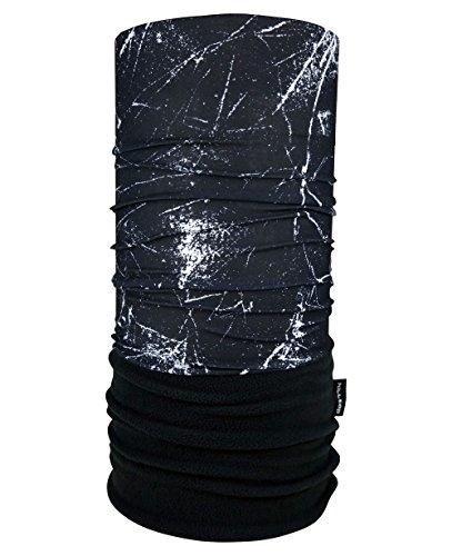 Hilltop Polar Schlauchtuch / Multifunktionstuch mit Fleece, Kopftuch, Halstuch versch. Farben, Farbe Polar Tuch:weisse Streifen