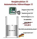 Automatische Hühnerklappe JT-HK + Steckernetzteil + Klappe/Schieber - Neujahrsaktion 2018 vom Hersteller !