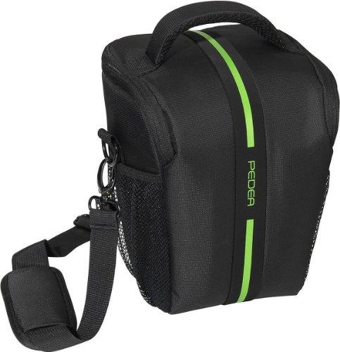 Pedea Essex - Funda para cámara réflex (correa y bolsillos para accesorios, tamaño grande)