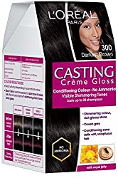 LOreal Paris Casting Creme Gloss, Darkest Brown 300, 87.5G+72Ml With Ayur Product In Combo