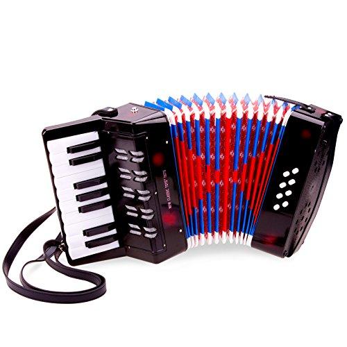 Unbekannt Mein erstes Instrument für Kinder ab 3 Jahren Akkordeon, schwarz inklusive Notenbuch • Accordeon Akkordeon Schifferklavier Harmonika Spielzeug Musik