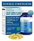 #6: Carbamide Forte Omega 3 Fish Oil 1000mg: Double Strength EPA 330mg, DHA 220mg for Heart, Bones & Joint Health - 60 Softgel Capsules