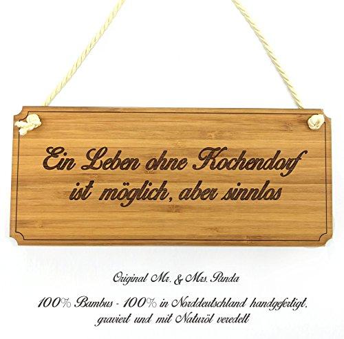 Mr. & Mrs. Panda Türschild Stadt Kochendorf Classic Schild - Gravur,Graviert Türschild,Tür Schild,Schild, Fan, Fanartikel, Souvenir, Andenken, Fanclub, Stadt, Mitbringsel