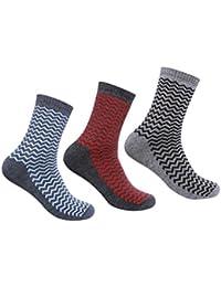 Supersox Men's Winter Socks Terry Design Pack of 3