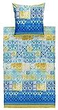 Bassetti Vietri Bettwäsche, Baumwolle, Blau, 155 x 220 x 1 cm, 2-Einheiten in