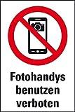 LEMAX® Verbots-Kombischild Fotohandy verboten,praxisbewährt,Kunststoff,200x300mm