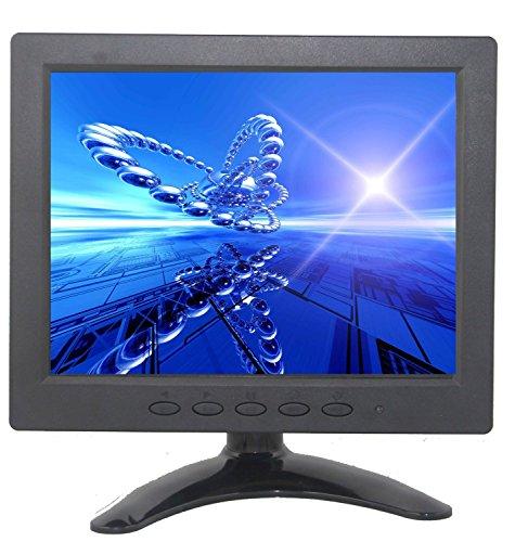 BW 8 Zoll TFT LCD Farben-Auto-Monitor HD 1024 * 768 PC überwacht CCTV-Monitore mit HDMI / VGA / AV / BNC / zusammengesetzte Eingänge für PC Überwachungskamera CCTV DVR Systeme