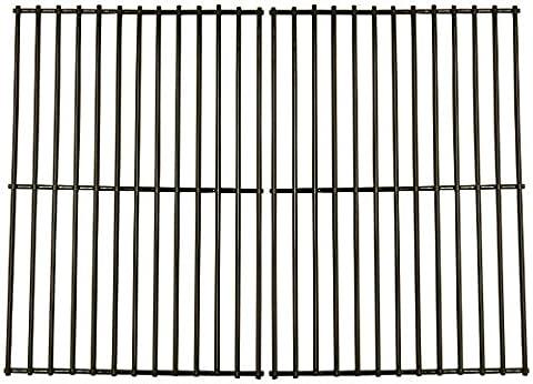 Music City Metals 58802 Set grilles de cuisson en acier émaillé pour les grills à gaz de la marque Grill Chef - Noir (2 pièces)