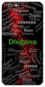 Dhigana (Masti) Name & Sign Printed All over customize & Personalized!! Protective back cover for your Smart Phone : HTC Desire 820