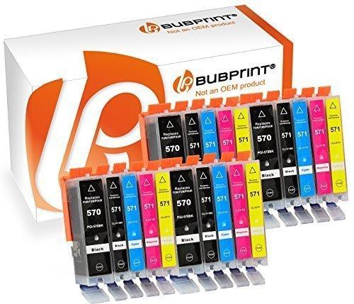 Bubprint 20 Druckerpatronen kompatibel für Canon PGI-570XL CLI-571XL für Pixma MG5750 MG5751 MG7750 TS5050 TS5051 TS6050 TS6051 TS8050 TS8051 TS9050