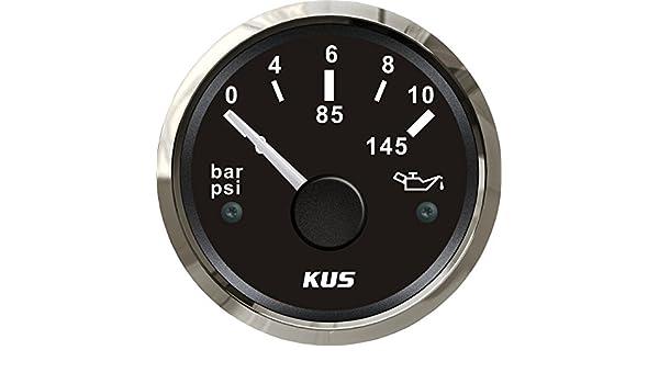5,1/cm 10/bar 0 Kus Justifi/ées Huile Jauge de pression du carburant au m/ètre 0 145/PSI avec r/étro-/éclairage 12/V//24/V 52/mm