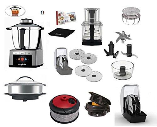 magimix cook expert cromo con opzional 1 pentola x cucina a vapore xxl 2 succhi o centrifuga 3 spremiagrumi 4 cucina creativa con libro delle ricette
