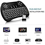 Gopani Mini Wireless Keyboard With Touchpad/Backlit Light & Wireless Mouse Combo For Android/iOS Devices (Black)