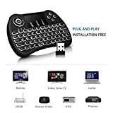 #7: Gopani Mini Wireless Keyboard with Touchpad/Backlit Light & Wireless Mouse Combo for Android/iOS Devices (Black)