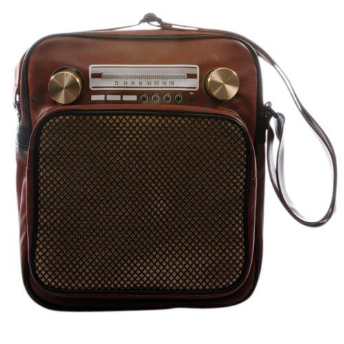 """Superfreak® Tasche """"Radio"""" Umhängetasche Radiotasche groß & hoch, alle Farben!!! Braun"""