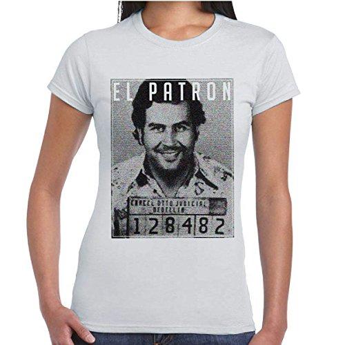t-shirt-donna-serie-tv-narcos-maglia-cotone-con-stampa-pablo-escobar-el-patron-colore-cenere-taglia-