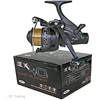 EX40 Bait Runner With Twin Handle + 10LB Line Spare Spool Carp Fishing Reel NGT