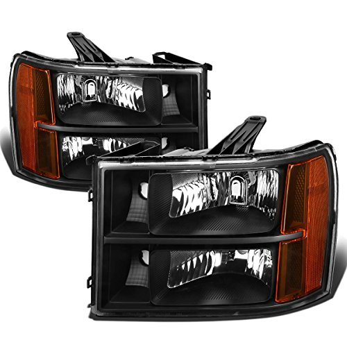 gmc-sierra-gmt-900-replacement-headlight-assembly-kit-black-housing-amber-reflector-by-auto-dynasty