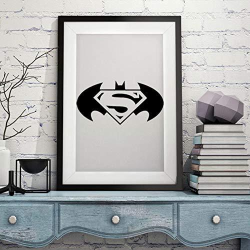 akeansa Wandtattoo wandaufkleber kinderzimmer Aufkleber Kinder Tieren Schlafzimmer Batman Superheld Türaufkleber Wand Wohnkultur DIY Vinyl Für