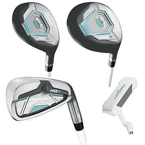 Damen Wilson ProStaff HDX Golf Komplettset + 1 inch Eisen 6-SW, Hybrid, Holz, Putter