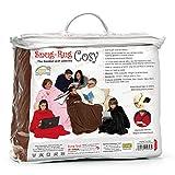 Snug Rug Cosy - Coperta in pile con maniche e un pratico marsupio, Marrone