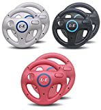 Link-e  - Pack de 2 volants (couleur au choix) pour manettes wiimote sur console Nintendo Wii (Noir)