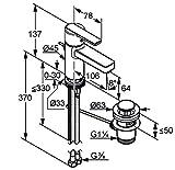 Kludi D Core-Miscelatore monocomando lavabo, leva chiusa, 1pz, cromati, klu382500590