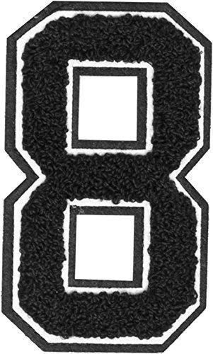 Urban Classics Uc007 Uc Numeri Patch Termoadesivi Da 0 A 9 (Numero 8)