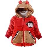 BBSMYA Baby Mädchen Jacke Jungen Mäntel Kleinkind Mädchen Winterjacke Kinderjacken Fell Warm Winter Coat Mantel Jacke Dicke Warme Affe 0-3 Jahre