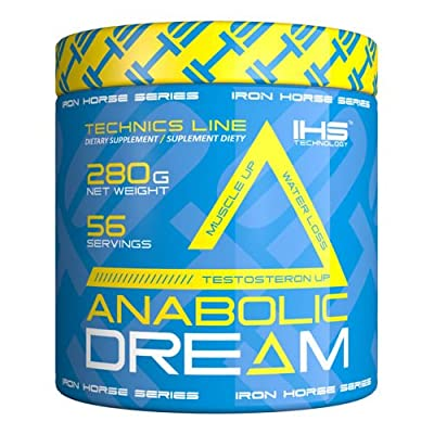 BEST ALL IN ONE TESTOSTERONE BOOSTER, LEAN MASS BUILDER, WATER LOSS, RECOVERY, CREATINE STACK, IHS ANABOLIC DREAM, 56 SERVINGS, 280g by Iron Horse Series