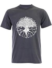 PALLAS Men's Tree of Life Symbols T Shirt -PA235