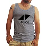 Friendly Bees Avicii Tim Berg Electronic Music Star Ibiza Logo Grau Herren T-Shirt Tanktops XX Large
