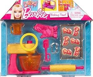 barbie v3937 accessoire pour poup e barbie cuisine et patisserie jeux et jouets. Black Bedroom Furniture Sets. Home Design Ideas
