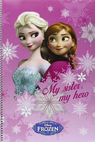 Disney Frozen- Libreta Folio 80 Hojas Tapas duras (SAFTA 511535066)