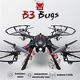 MJX B3 Profi Quadrocopter Drohne mit Aktionkamera-Halterung für Gopro Bürstlose Motoren 6A Elektrizitätsregulierung 2.4G Fernsteuer 4CH 6-Achsen Gyro 3D Rollen Funktion Drone für Profi Training Standard Version ohne Kamera und Gimbal