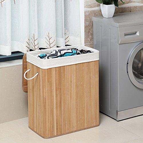 Wäschekorb aus Bambus, 100 Liter - 3