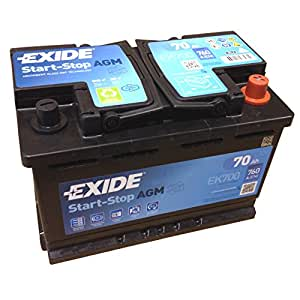 exide agm start stop battery 700 en a 760 12 v 70ah. Black Bedroom Furniture Sets. Home Design Ideas
