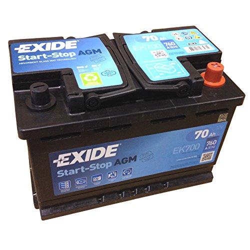 EXIDE AGM Start-Stopp-Batterie EK 700 EN (A): 760 12V 70AH neuestes Model 2014/15 (Mikro-start)
