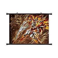 Laohujia Gundam Build Fighters Anime Fabric Wall Scroll Poster (32x23) Inches [A] Gundam Build Fighters-9(L)
