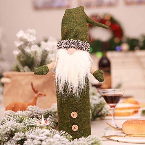 eihnachtsmann Weinflasche Cover Home Party Dekoration Geburtstagsgeschenk Tischdekoration ()