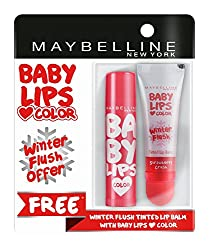 Maybelline New York Baby Lips, Winter Flush, 4.4g and Baby Lips, Cherry Kiss, 4g