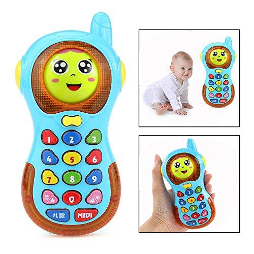 OFKPO Juguete Teléfono Música Early Educación, 3D Que Cambia el Tel