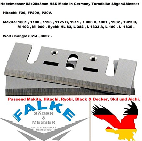 82MM HSS HOBELMESSER FÜR MAKITA,SKIL, HITACHI & RYOBI, Black & Decker, Aichi
