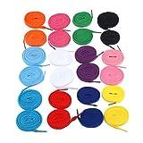 TINKSKY Paires de lacets espadrilles lacets sport lacet chaînes 12 plats (couleurs mélangées)