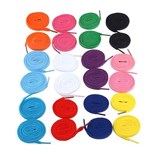 tinksky-paires-de-lacets-espadrilles-lacets-sport-lacet-chaines-12-plats-couleurs-melangees