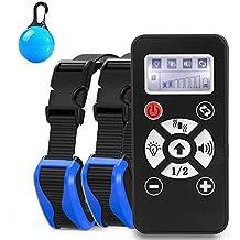 Collar De Adiestramiento entrenamiento Para Perros, Rango De 800 Metros Recargable, Resistente Al Agua, vibración, Sonido, Control de automatización, dispositivo de entrenamiento de pantalla LCD