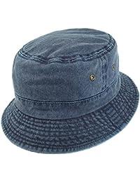 Chapeau Bob Pliable en Coton bleu marine