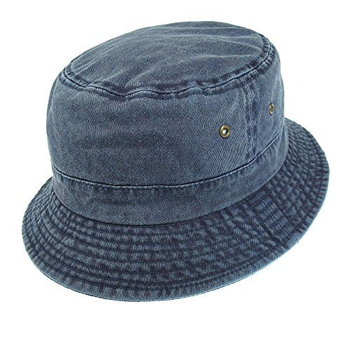 Village Hats Chapeau Bob Pliable en Coton Bleu Marine