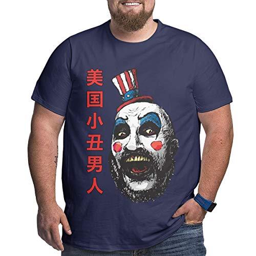 Eivan Herren T-Shirt Captain Spauldings Large Size Rundhalsausschnitt Baumwolle Kurzarm Shirt Gr. XXXXX-Large, Navy