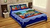 #10: Shop Jaipuri Cotton Rajasthani Double Bedsheet With 2 Pillow Cover 100% Cotton Double Bedsheet Rajasthani Bedcover